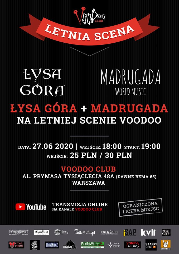 Łysa Góra & Madrugada World Music w VooDoo Club