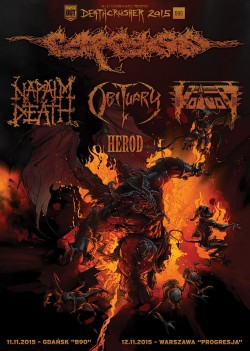 Deathcrusher Tour 2015 – Carcass, Obituary, Napalm Death, Voivod, Herod