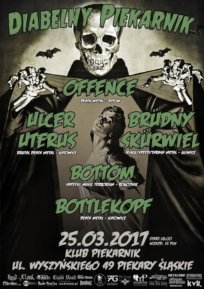 Diabelny Piekarnik: Offence, Ulcer Uterus, Brüdny Skürwiel, Bottom, Bottlekopf