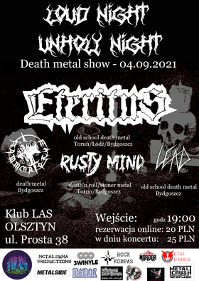 Loud Night, Unholy Night – Eteritus, Dammnatorum, Rusty Mind, Leäd