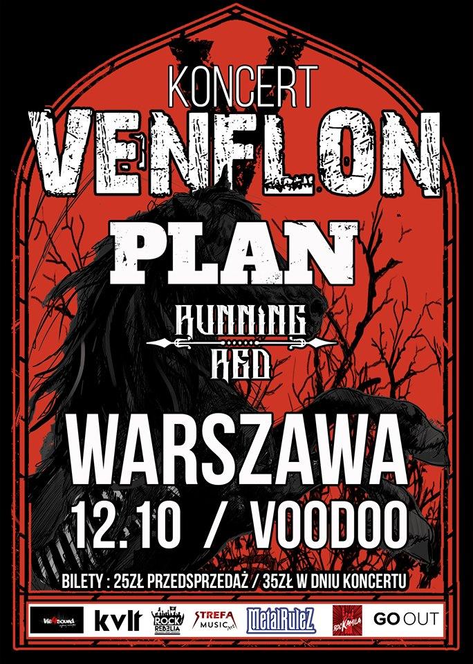 Venflon + Plan i Running Red / 12.10 / Warszawa