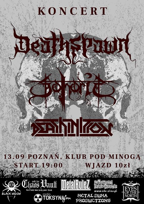 Koncert Deathspawn Sothoris Deathinition 13.09 Poznań