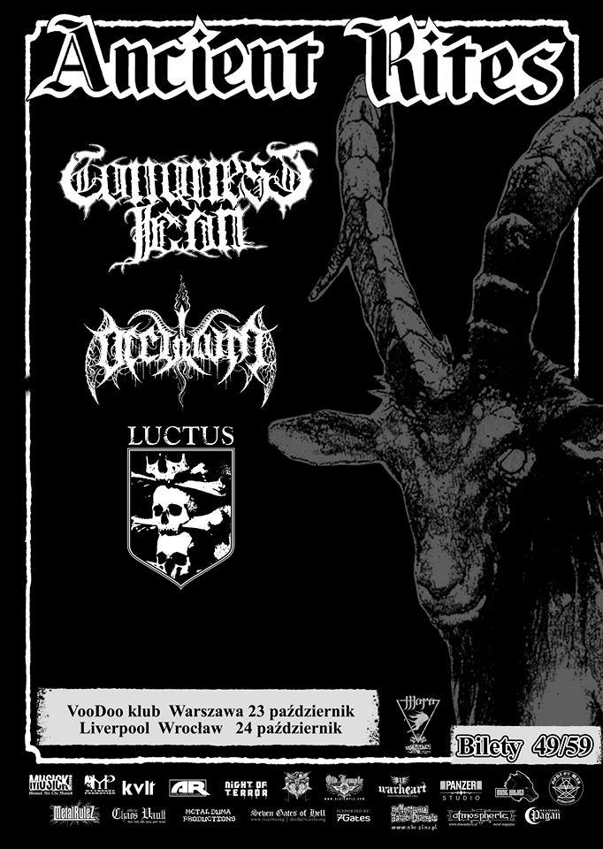 Ancient Rites na dwóch koncertach w Polsce