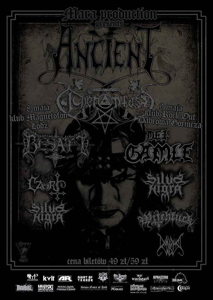 Ancient i Acherontas na dwóch koncertach w Polsce