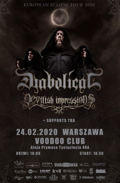 DIABOLICAL, DEVILISH IMPRESSIONS, Dark Mirror ov Tragedy, Black Royal – Warszawa