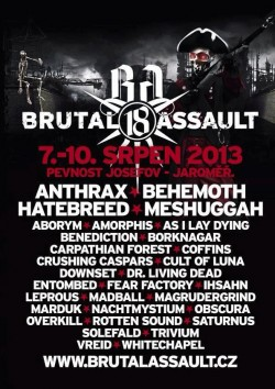 Brutal Assault 2013, Jaromer 7-10.08.2013