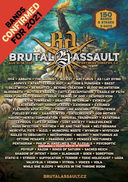 Zespoły na Brutal Assault 2021