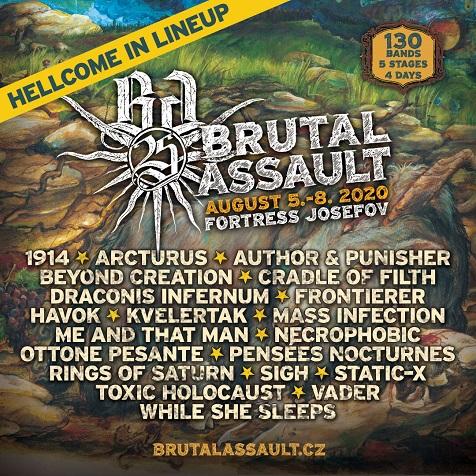 Kolejne zespoły dołączają do składu Brutal Assault 2020