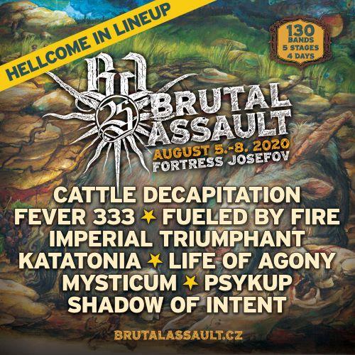Kolejne zespoły w składzie Brutal Assault 2020