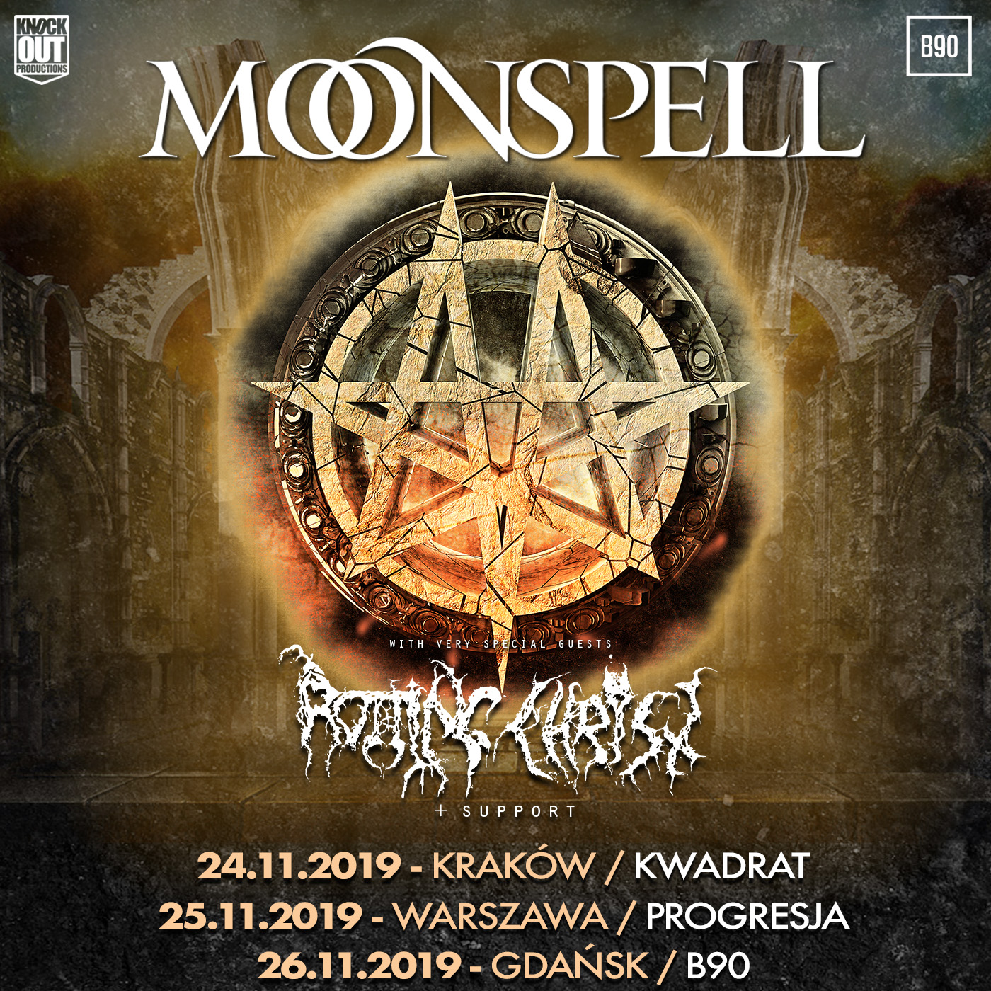 Moonspell i Rotting Christ w Polsce