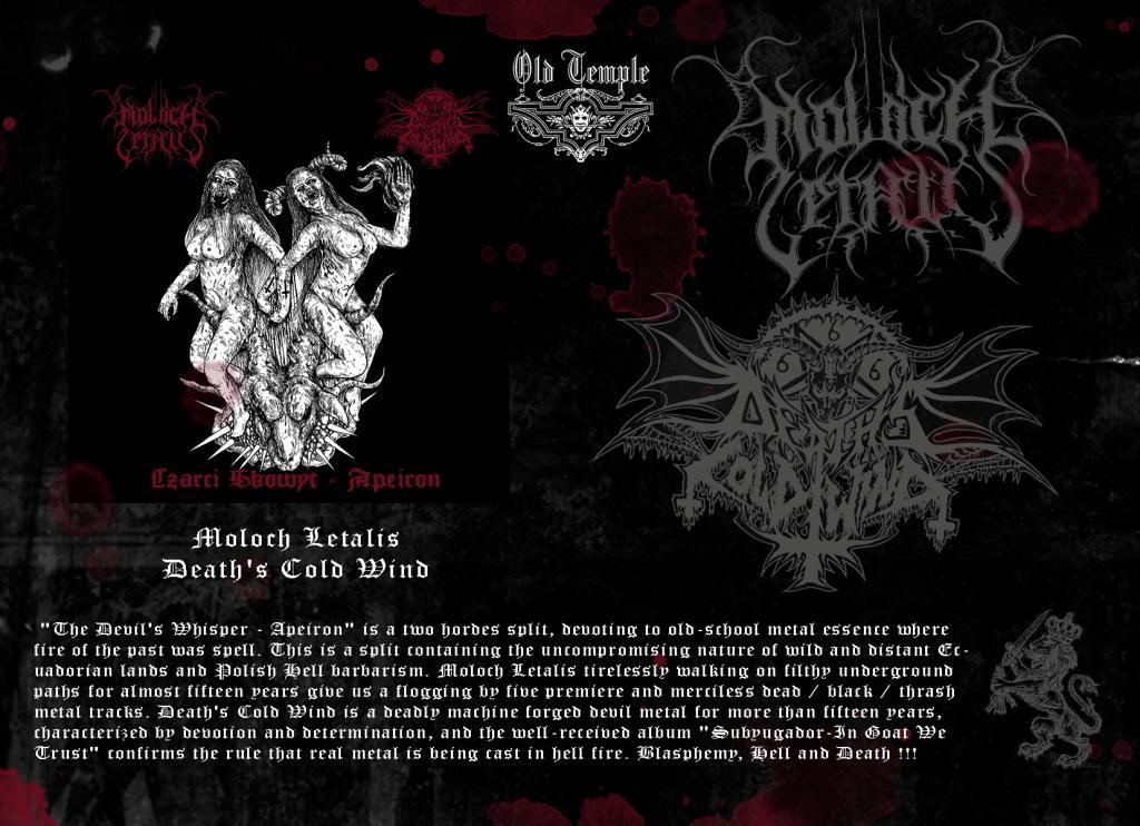 Moloch Letalis / Death's Cold Wind – CD split !