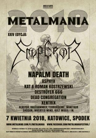 Metalmania 2018 – kolejni wykonawcy: Napalm Death, Inverted Mind i Kult Mogił!
