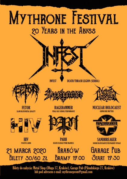 Mythrone Festival – 20 Years in the Abyss
