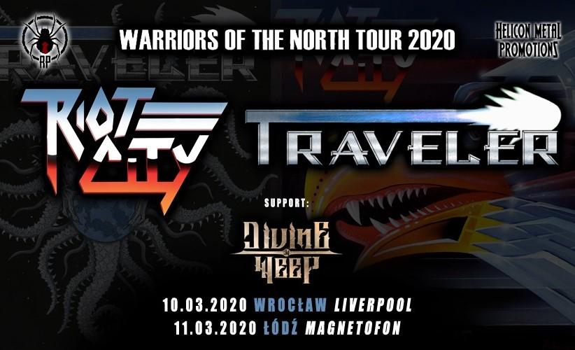 TRAVELER i RIOT CITY na dwóch koncertach w Polsce