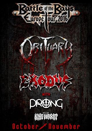 Battle of the bays: Obituary/Exodus/Prong/King Parrot, Katowice, Mega Club