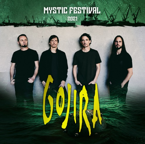 Gojira trzecim headlinerem Mystic Festival 2021