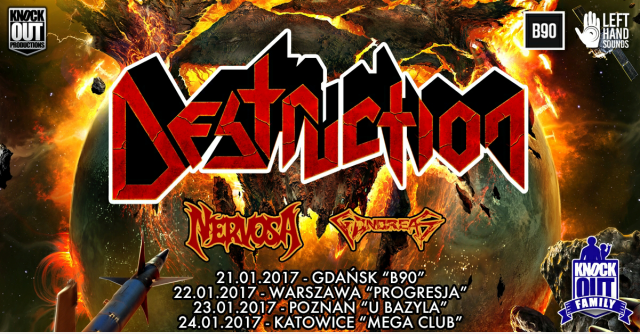 Destruction, Nervosa, Gonoreas – Mega Club, Katowice