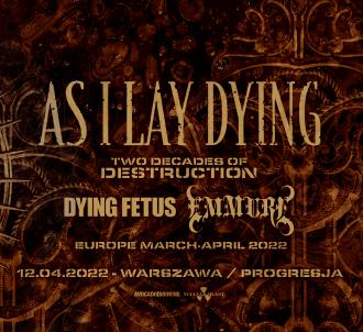 As I Lay Dying, Dying Fetus i Emmure na wspólnym koncercie w Polsce